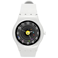 Solar System Plastic Sport Watch (medium) by PaolAllen2