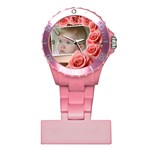My Pink Rose Nurses Watch - Plastic Nurses Watch