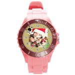 merrry christmas - Round Plastic Sport Watch (L)