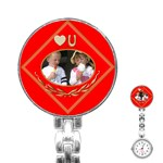 Love you Stainless Steel Nurses Watch