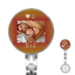 Love U dad Stainless Steel Nurses Watch