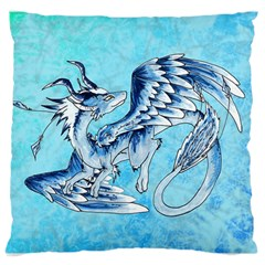Fox Dragon Pillow By Sarah   Large Cushion Case (two Sides)   Mtgv37zbzeu3   Www Artscow Com Front