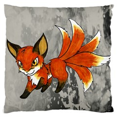 Fox Dragon Pillow By Sarah   Large Cushion Case (two Sides)   Mtgv37zbzeu3   Www Artscow Com Back