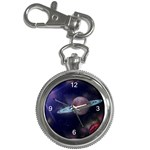 SPACE PHOTO CUSTOM DESIGN KEY CHAIN POCKET WATCH
