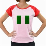 Nigeria Flag Women s Cap Sleeve T-Shirt