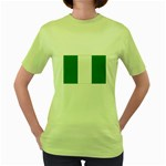 Nigeria Flag Women s Green T-Shirt