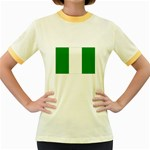 Nigeria Flag Women s Fitted Ringer T-Shirt