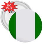 Nigeria Flag 3  Button (100 pack)