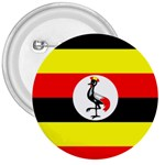 Uganda Flag 3  Button
