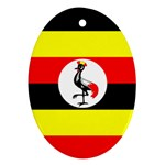 Uganda Flag Ornament (Oval)