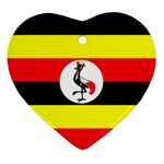 Uganda Flag Ornament (Heart)