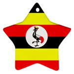Uganda Flag Ornament (Star)