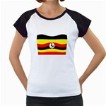 Uganda Flag Women s Cap Sleeve T