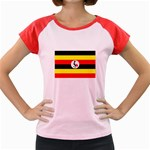 Uganda Flag Women s Cap Sleeve T-Shirt
