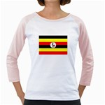 Uganda Flag Girly Raglan