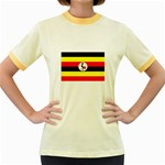 Uganda Flag Women s Fitted Ringer T-Shirt