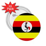 Uganda Flag 2.25  Button (10 pack)