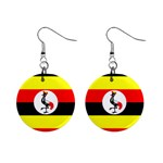 Uganda Flag 1  Button Earrings