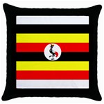 Uganda Flag Throw Pillow Case (Black)