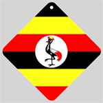 Uganda Flag Car Window Sign