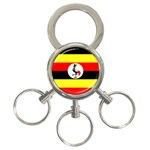 Uganda Flag 3-Ring Key Chain