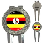 Uganda Flag 3-in-1 Golf Divot