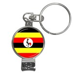 Uganda Flag Nail Clippers Key Chain