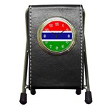Gambia Flag Pen Holder Desk Clock
