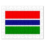 Gambia Flag Jigsaw Puzzle (Rectangular)