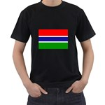 Gambia Flag Black T-Shirt