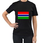 Gambia Flag Women s Black T-Shirt
