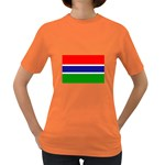 Gambia Flag Women s Dark T-Shirt