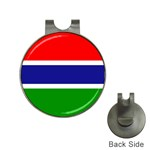Gambia Flag Golf Ball Marker Hat Clip