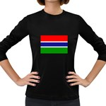 Gambia Flag Women s Long Sleeve Dark T-Shirt