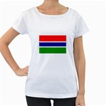 Gambia Flag Maternity White T-Shirt
