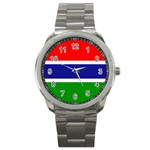 Gambia Flag Sport Metal Watch