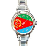 Eritrea Flag Round Italian Charm Watch