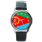 Eritrea Flag Round Metal Watch