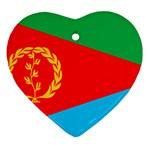 Eritrea Flag Ornament (Heart)
