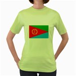 Eritrea Flag Women s Green T-Shirt