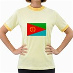 Eritrea Flag Women s Fitted Ringer T-Shirt