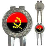 Angola Flag 3-in-1 Golf Divot