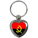 Angola Flag Key Chain (Heart)