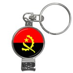 Angola Flag Nail Clippers Key Chain