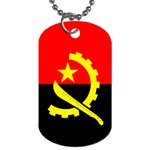 Angola Flag Dog Tag (One Side)