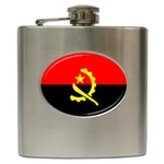 Angola Flag Hip Flask (6 oz)