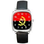 Angola Flag Square Metal Watch