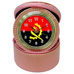 Angola Flag Jewelry Case Clock