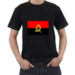 Angola Flag Black T-Shirt