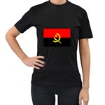 Angola Flag Women s Black T-Shirt